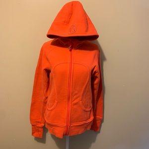 Lululemon Scuba Hoodie 10 Orange/Coral
